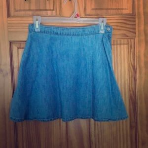 Light denim circle skirt